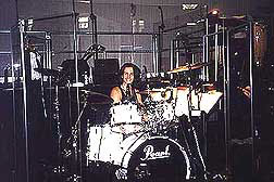 Gregg Gerson & Pearl drum kit