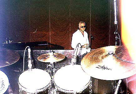 Keith Levinson & Gregg Gerson Pearl drum kit